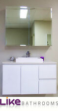 clearance sale @SEN900L-WH Wall Hang 900mm vanity with Stone top
