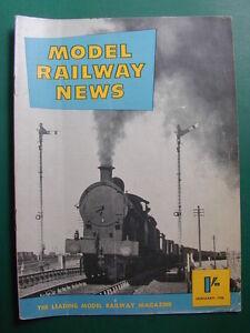 MODEL RAILWAY NEWS MAGAZINE JANUARY 1956