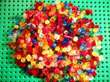 Lego Huge lot of 500 Translucent Clear Colors 1x1s Free Shipping