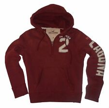 ***** SUDADERA CON CAPUCHA BURDEOS CHICO HOLLISTER BY ABERCROMBIE & FITCH *****