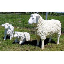 3 groß & klein SCHAFE FAMILIE LAMM Deko Garten Tier Figuren BAUERNHOF Dekoration