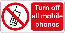 Disattivare tutti i telefoni cellulari ADESIVI 100 x 200 mm