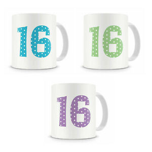 16th Sixteenth Birthday Mug Present Gift For Him Her Brother Sister Cousin Etc
