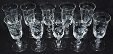 VINTAGE TIFFIN MYSTIC JUICE GLASSES (10) PATTERN # 17378 CIRCA 1950-1966