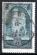 "FRANCE STAMP TIMBRE N° 259 b "" CATHEDRALE REIMS 3F TYPE III "" OBLITERE TB  M534"