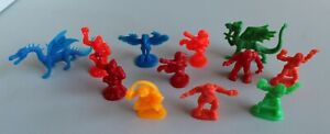 VERY RARE! Arco Dragons And Monsters Figures Fantasy Plastic Toy 1980s Lot Of 12