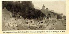 Das zerstörte Kurhaus im eroberten Namur 1.WK 1914