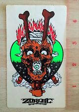 Zorlac Pushead Craig Johnson Gibson Metallica Skateboard Sticker TX SUAS