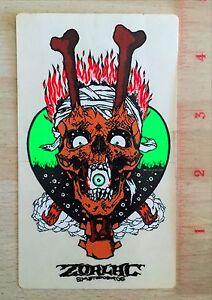 Zorlac Pushead Craig Johnson Gibson Metallica Skateboard Sticker TX SUAS Pirate
