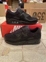 New Nike Air Max 90 Triple Black CN8490-003 Running Shoes Men's 8 Jordan Yeezy