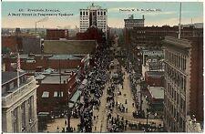View on Riverside Avenue in Spokane WA Postcard Coca-Cola