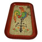 Vintage Rectangle Rooster Chicken Weather Vane Tin Tray 14 1/3