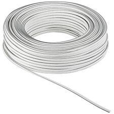 25 m Lautsprecherkabel 99,9 % Kupfer Zwillingslitze Weiß 2 x 0,5 mm² OFC 4503