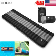Outdoor Camping Inflatable Mattress Air Mat Pad Thick Hiking Sleeping Bed w/Bag