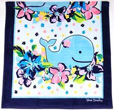 "New Vera Bradley Marian Floral Whale 33"" x 66"" Beach Pool Towel"