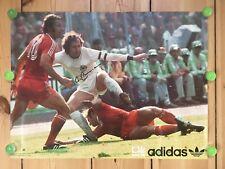 Adidas Poster WM 74 Beckenbauer Original Signiert DFB Vintage Rarität !