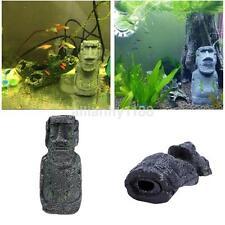 12.4*5.2cm Aquarium Easter Island Statue Ornament Fish Tank Decoration Decor US