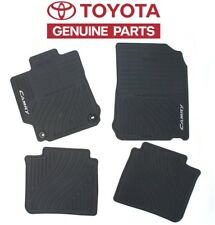 Camry 2012-2014 Front and Rear Black All-Weather Rubber Floor Mats Genuine OEM