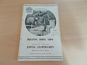 The 1959 Brighton Horse Show & South Of England Junior Championships Programme