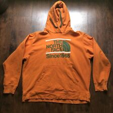 The North Face Men's Orange Green Hoodie Pullover Since 1968 XXL