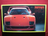 BIG 1988 Ferrari F40 1:16 Scale Fujimi Japan Plastic Model Kit Vintage Car Rare