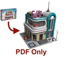 Lego Custom Modular Instructions-Only Downtown Diner California 10260
