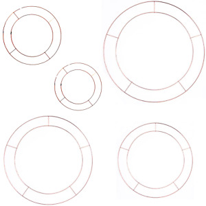 Flat Wire Wreath Making Ring Frame Holly Christmas Craft Moss -Pack 3