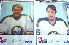 "1980-81 Bell's Market Buffalo Sabres Poster-""24x36""- Don Edwards/Gillies Howatt"
