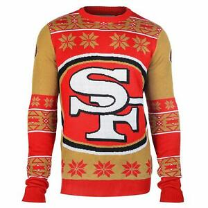 Forever Collectibles NFL Unisex San Francisco 49ers Big Logo Ugly Sweater