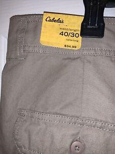 Cabela's Legendary 7-Pocket Hiker Hiking Pants Mens Size 40X30. NWT