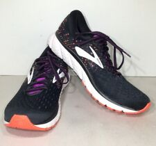BROOKS Glycerin 17 Women's Sz 9.5 2A Black/Coral Athletic Running Shoes X5-679*
