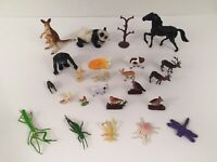 Lot Of Vintage Plastic Animals & Insects