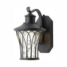 Home Decorators Collection Black Small Outdoor LED Dusk to Dawn Wall Lantern