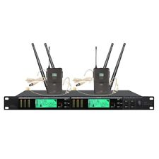 True Diversity UHF Vocal Wireless Microphone System Professional Headset Micro