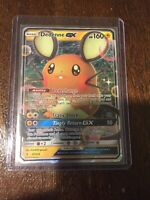 Pokemon Sun Moon Unbroken Bonds Dedenne GX 57/214 Ultra Rare Art Card Pack Fresh