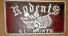 Car Club Plaque Rodents El Monte eBay Motors Rat Fink Big Daddy Roth Dragster Ta