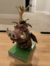 """Disney Traditions Timon and Pumba """"Carefree Cohorts� By Jim Shore"""