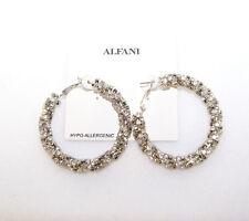Alfani Crystal Twist Hoop Earrings