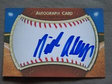 Oakland Athletics 2017 3rd Round Draft Pick Nick Allen Signed Autograph Card