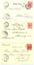BRAZIL 1901/1904 -- 3 x PPC TO GERMANY --F/VF