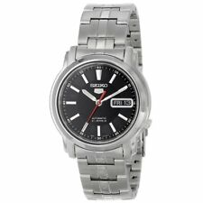 Seiko Analog Business Watch 5 Automatic Silver Mens SNKL83K1