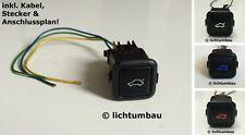 VW Golf 1 2 3 4 Polo 6N Schalter cleane Heckklappe BLAU WEISS ROT LED Corrado