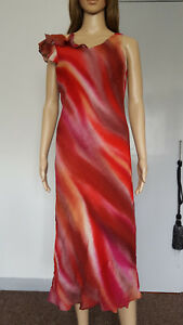 BNWT MELANGE red multicoloured ruffle A-Line midi dress size 14 621 RRP $99.00