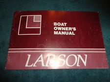 1982 / 1983 LARSON BOAT OWNERS MANUAL / ORIGINAL GUIDE BOOK BOWRIDER+