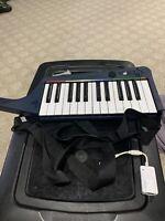 Nintendo Wii Rockband 3 Clavier Keyboard Wireless W/Strap & Dongle Tested Works