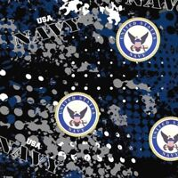 Police Bravery Courage Protect Serve Sykel Heather Print Fabric-$9.99//yard