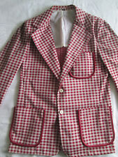 Vintage Red and White Checkered Jacket Size M / 40 for Golf or Vendor Costume