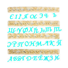FMM Cutter Russian Alphabet Letters Fondant Icing Cake Cutting Tool Stencil Name