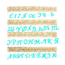 FMM Taglierina russo ALFABETO LETTERE Fondant GLASSA TORTA strumento di taglio Stencil nome