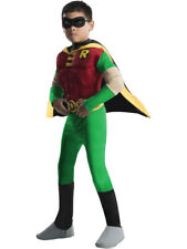 Childs Teen Titans Robin Boy Wonder Muscle Chest Costume Boys Large 12-14